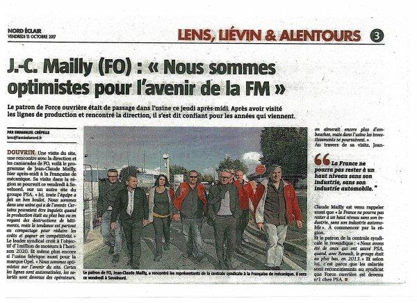 J*C. Maiily (FO) : Nous sommes optimistes pour l'avenir de le FM
