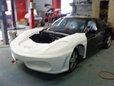 preparation sur ma nouvelle replique ferrari f430 sur base toyota mr2 le monde fou du sport. Black Bedroom Furniture Sets. Home Design Ideas