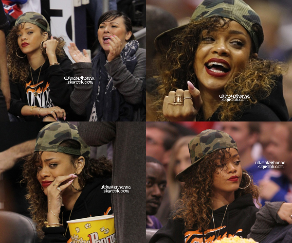 . 11/01/12 : Rihanna Fentyassistant de nouveaux à un match de basket à L.A. Top ou flop pour Rih' ? .