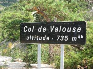 col de valouse (735m)