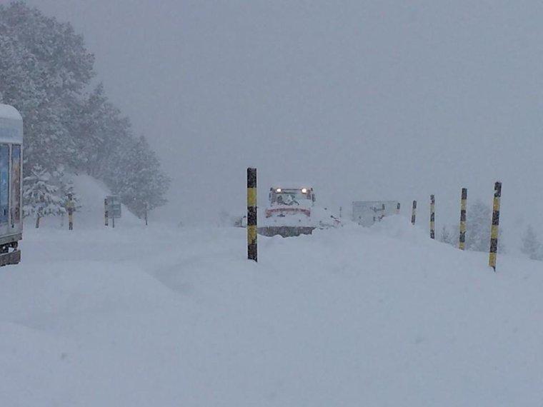Grosse chute de neige sur le Mont Ventoux