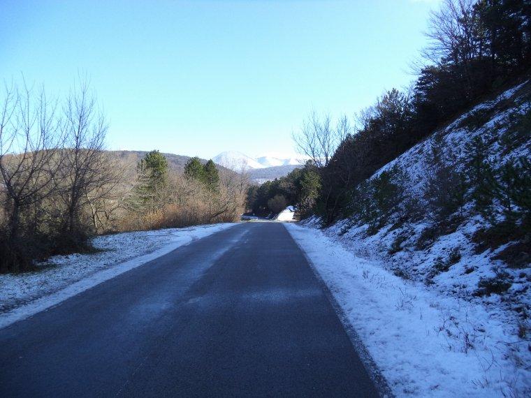 Tour de vélo au col de Valouse avec 60 centimètres de neige !