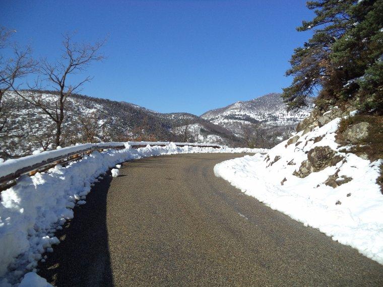 Photos tour de vélo col de Valouse sous 60 centimètres de neige (7)