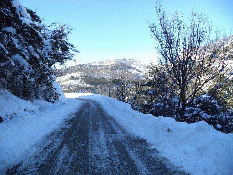Photos tour de vélo col de Valouse sous 60 centimètres de neige (8)