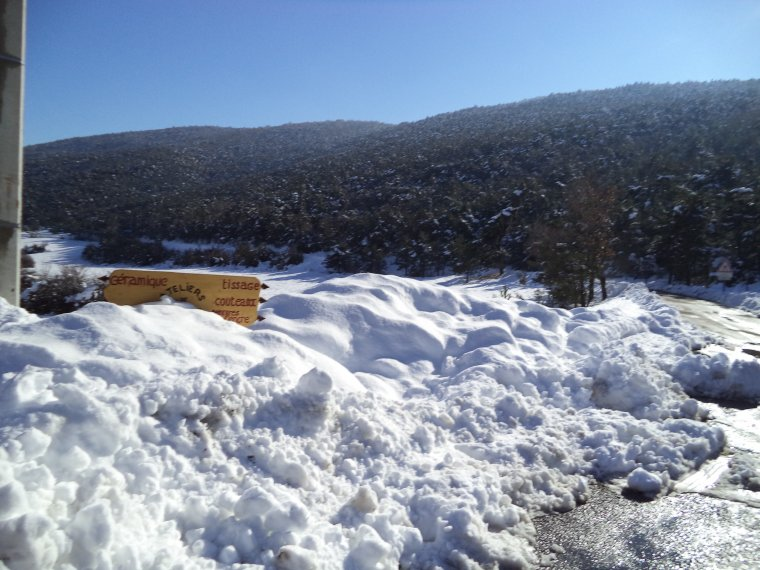 Photos souvenirs au col de Valouse sous énormément de neige !