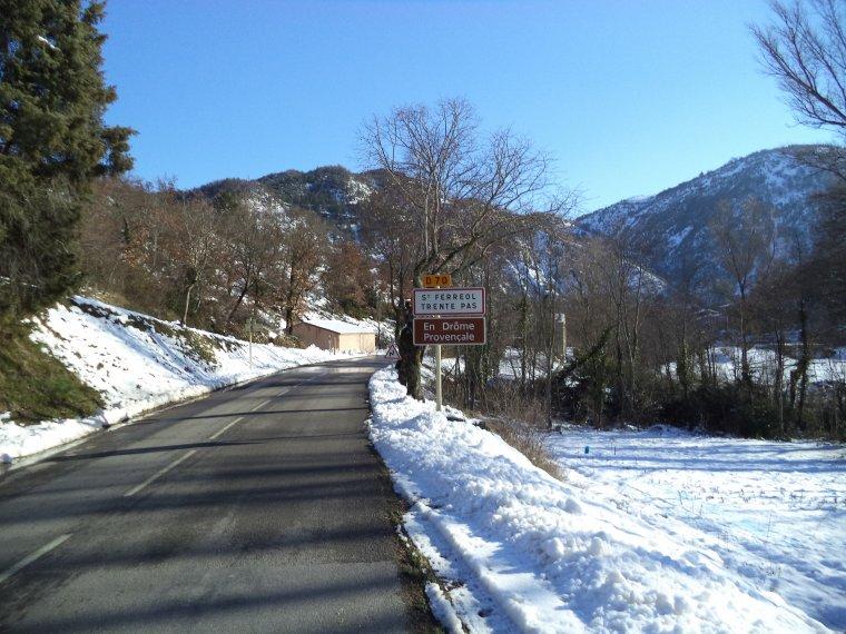 Photos tour de vélo col de Valouse sous 60 centimètres de neige (9)