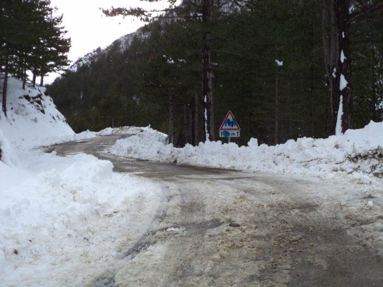 Photos tour de vélo au col de Soubeyrand avec 70cm de neige !   (3)