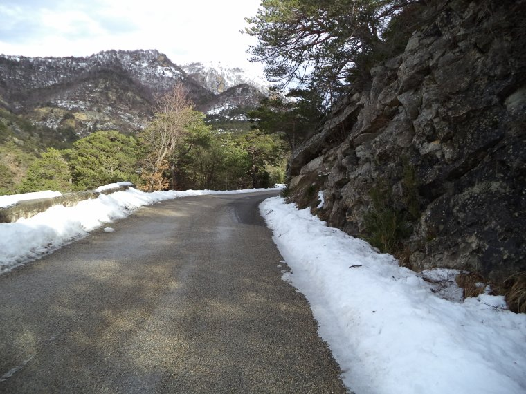 photos au col de Valouse avec 20cm de neige