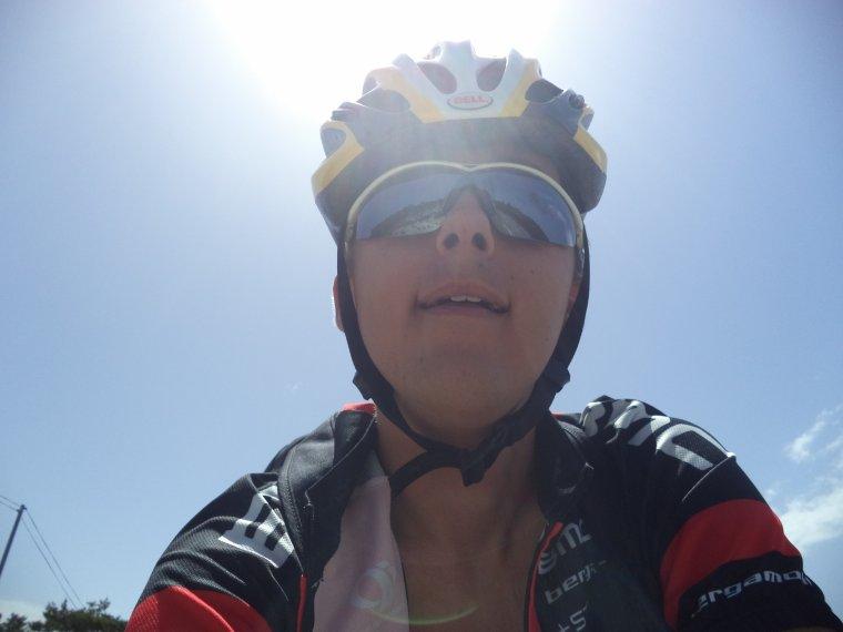 Hier c'était vélo + randonnée avec Freddy et Odile, 7h non-stop !!!!