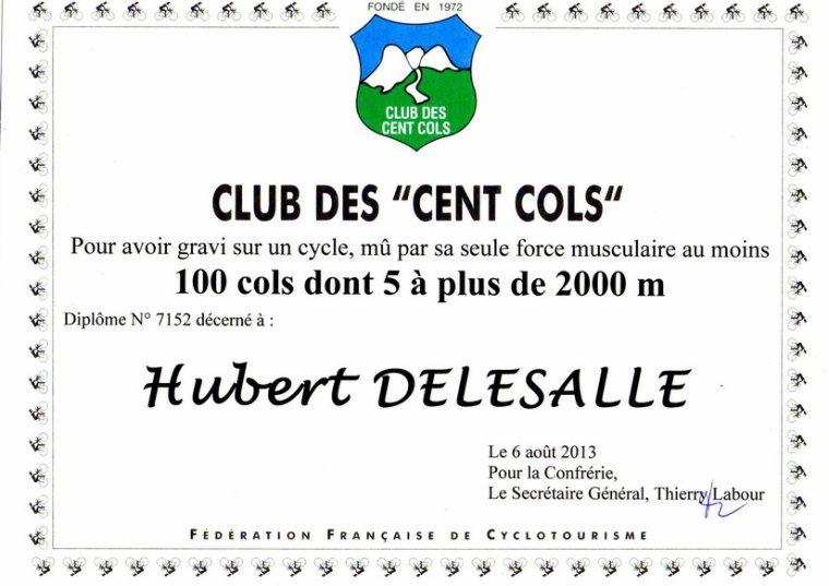 Concentration du Club des Cents Cols au col de la Ligne