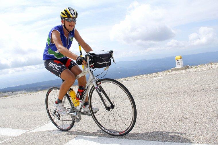 moi dans l'ascension du Mont Ventoux vu par des photographes !