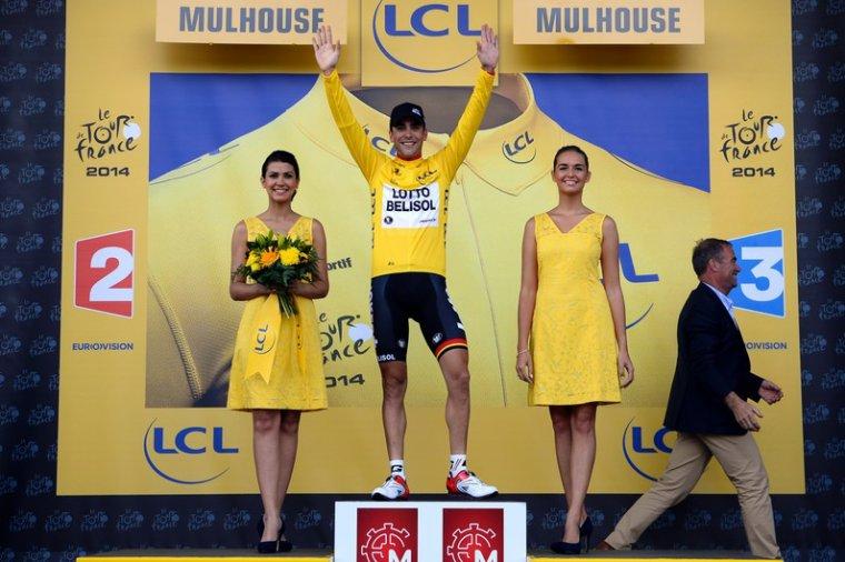 un Français maillot jaune au Tour de France 2014 ! un miracle !