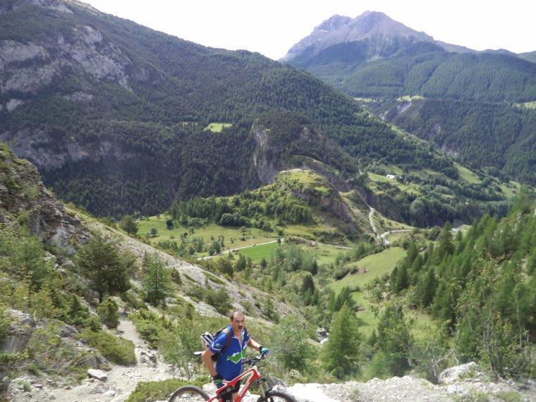 Ascension du col de Serenne (2670m) en poussage VTT avec mon ami Freddy !