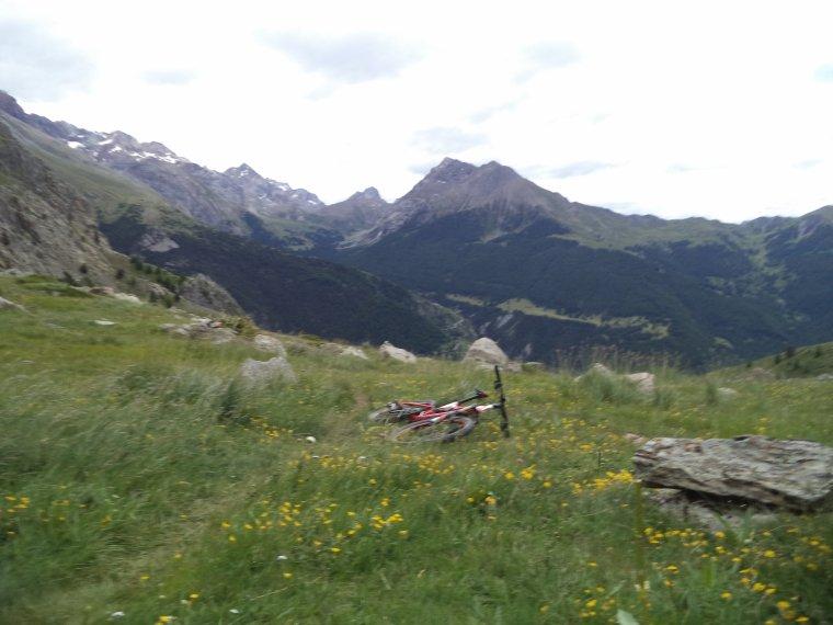 Ascension du col de Serenne (2670m) en poussage VTT avec mon ami Freddy !  (photos (3)