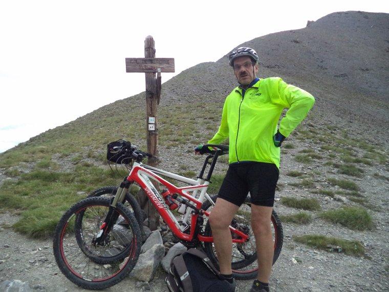 Ascension du col de Serenne (2670m) en poussage VTT avec mon ami Freddy !  (photos (8)