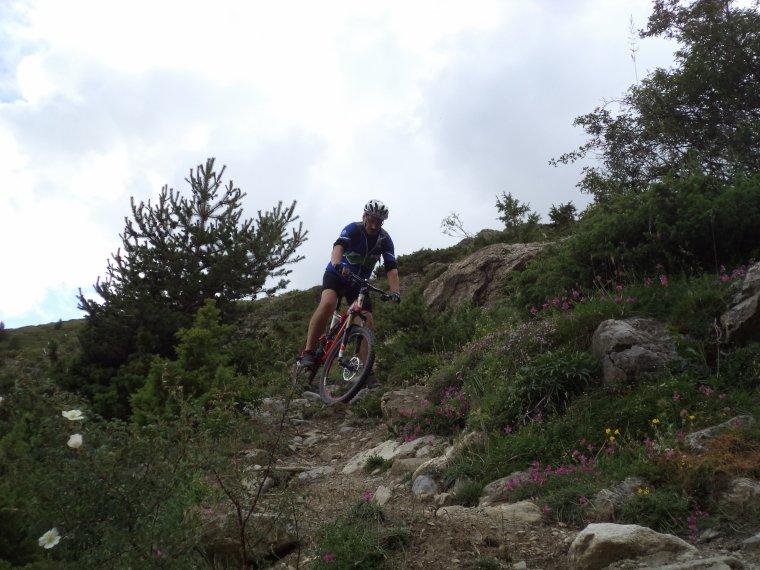 Ascension du col de Serenne (2670m) en poussage VTT avec mon ami Freddy !  (photos (9)
