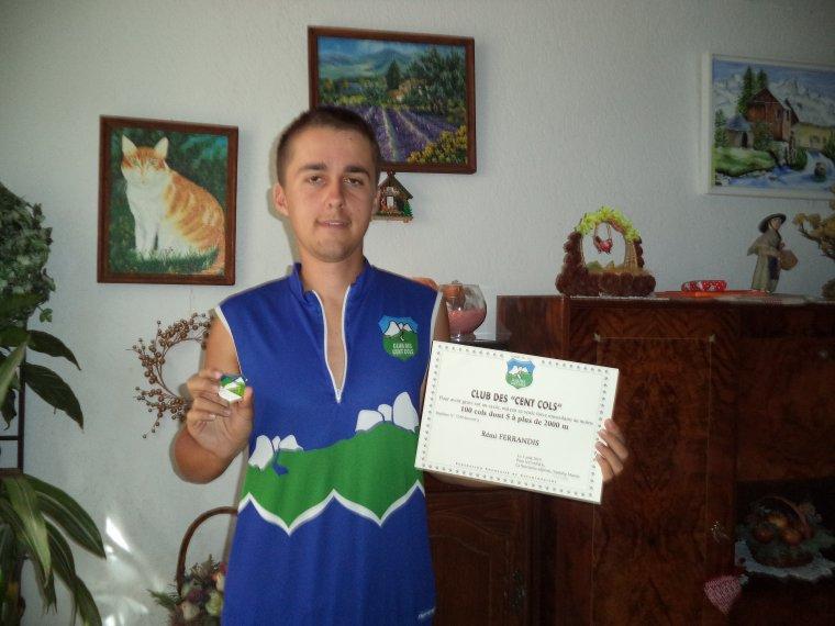 Grimpeur-du-84 devient membre de la Confrérie du Club des Cents Cols !!!