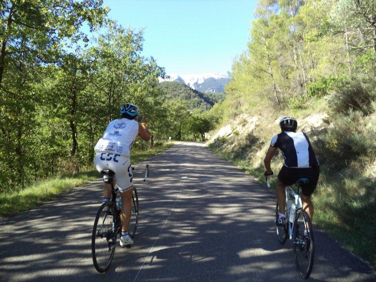 Découverte des Hautes-Baronnies à vélo avec Gil et Yves, 125km