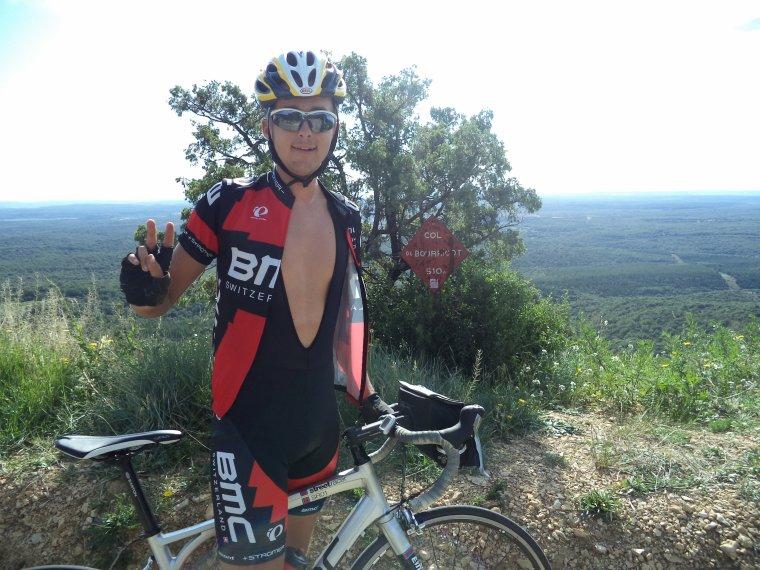 Tour de vélo dans le Gard avec le BCB, ascension du Mont Bouquet, 108 kilomètres !!!