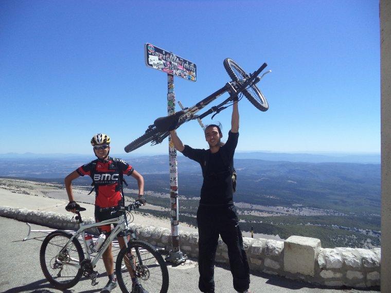 Descente du Mont Ventoux en VTT avec Joris !  Quel régal ;)