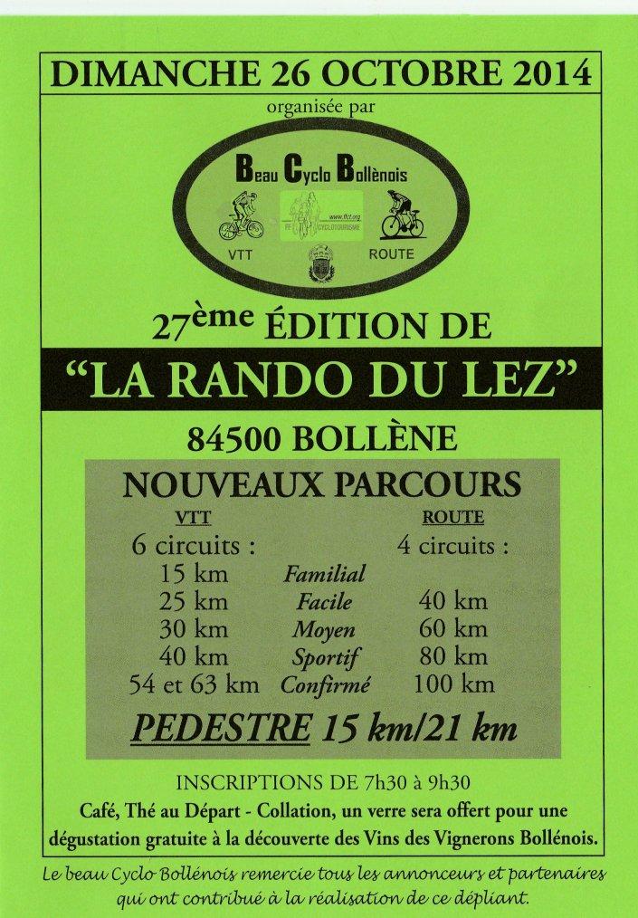 """27e édition de """"La Rando du Lez"""""""