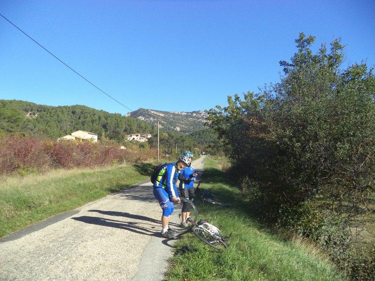 Rencontre avec Claude et Marie-Ange dans les Baronnies Provençale, 118km