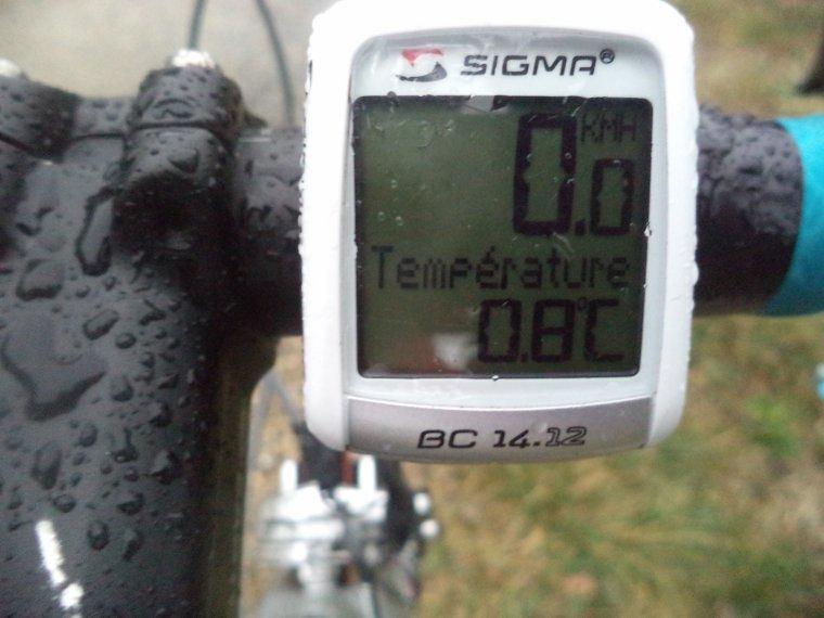Montée au col de Valouse avec le froid et la neige fondu ! 64km (photos 2)