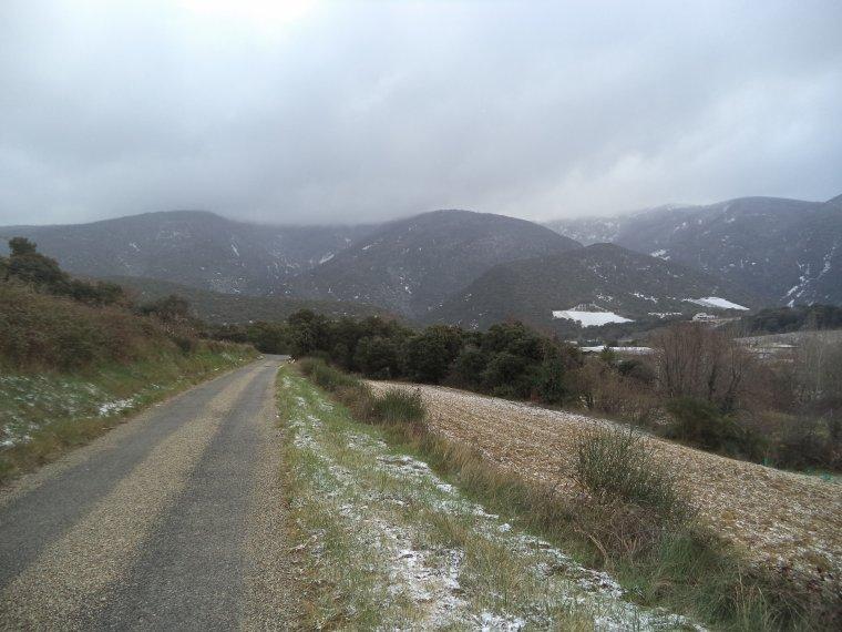 En vélo à Comps sous une tempête de neige !   -12°C !!! 66km
