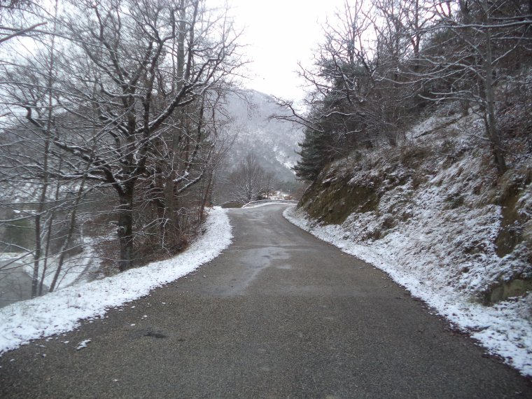En vélo à Comps sous une tempête de neige !   -12°C !!! 66km (photos 4)