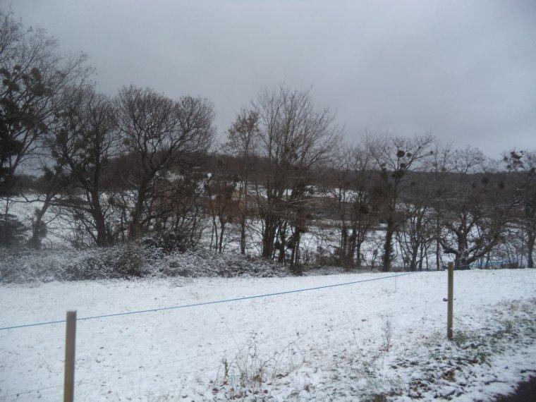 En vélo à Comps sous une tempête de neige !   -12°C !!! 66km (photos 6)