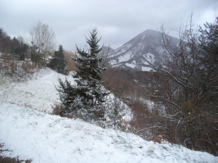 En vélo à Comps sous une tempête de neige !   -12°C !!! 66km (photos 7)