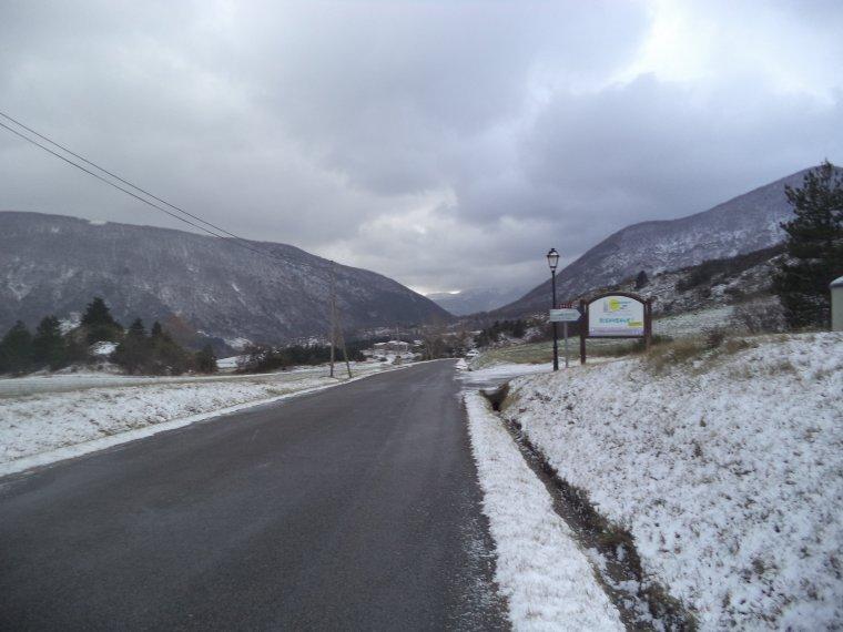 En vélo à Comps sous une tempête de neige !   -12°C !!! 66km (photos 9)