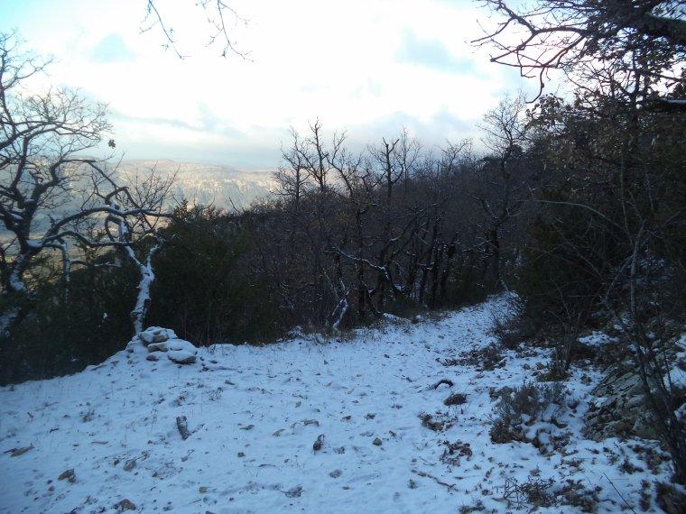 Grande randonnée seul à la montagne de la Lance !  neige, vent, brouillard, -22°C et 15 kilomètres (photos 2)