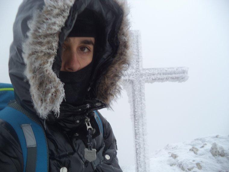 Grande randonnée seul à la montagne de la Lance !  neige, vent, brouillard, -22°C et 15 kilomètres (photos 12)