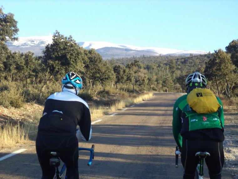 Montée au chalet Reynard (1440m) de la Saint-Sylvestre avec Gil et Bruno, 80 kilomètres.
