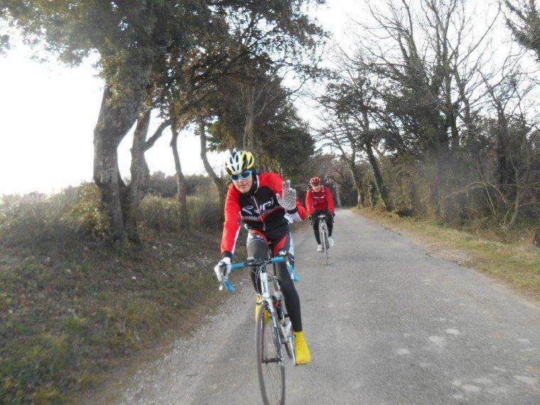 Premier tour de vélo de l'année en compagnie de quelques amis du BCB, 60km