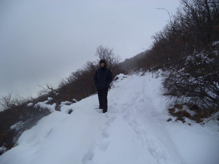 Randonnée à la montagne de la Lance avec 50cm de neige, -18°C de ressentie, du givre, blizzard....11km (photos 2)