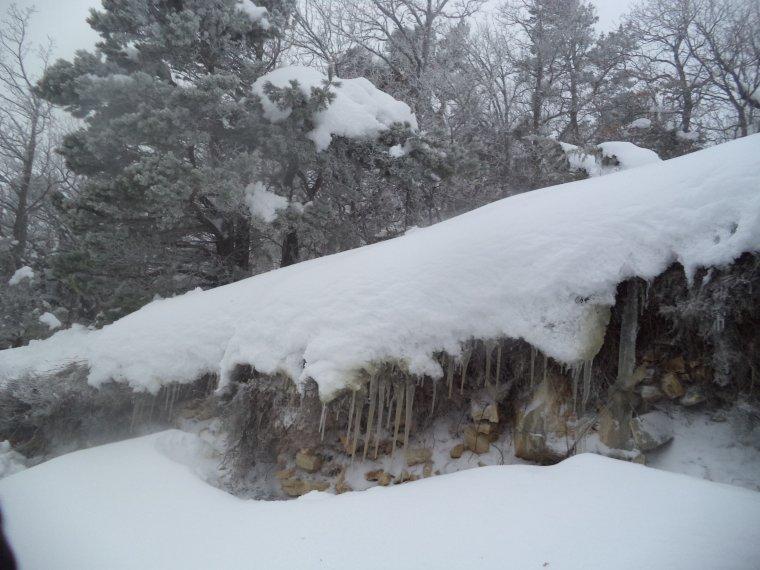 Randonnée à la montagne de la Lance avec 50cm de neige, -18°C de ressentie, du givre, blizzard....11km (photos 4)