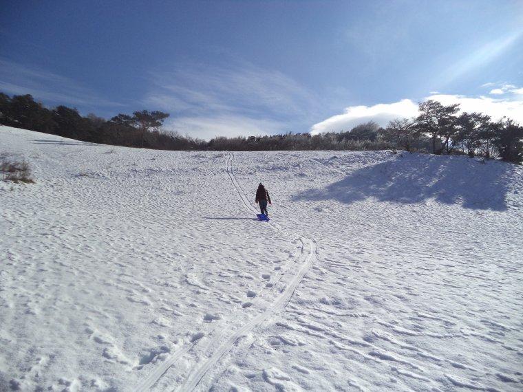 Randonnée en raquette à neige à la Lance avec maman, 60cm de neige, -13°C (photos 3)