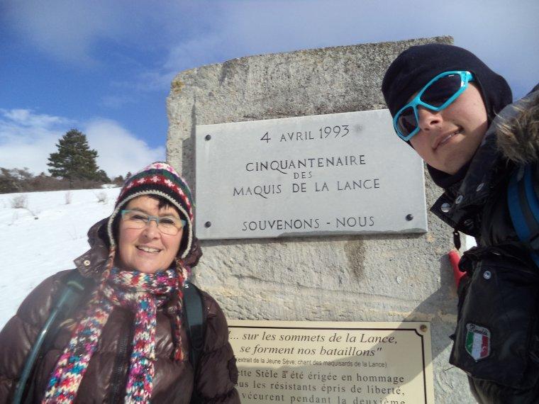 Randonnée en raquette à neige à la Lance avec maman, 60cm de neige, -13°C (photos 4)