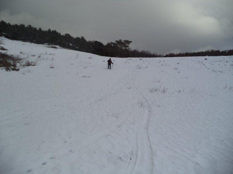 Randonnée en raquette à neige à la Lance avec maman, 60cm de neige, -13°C (photos 8)