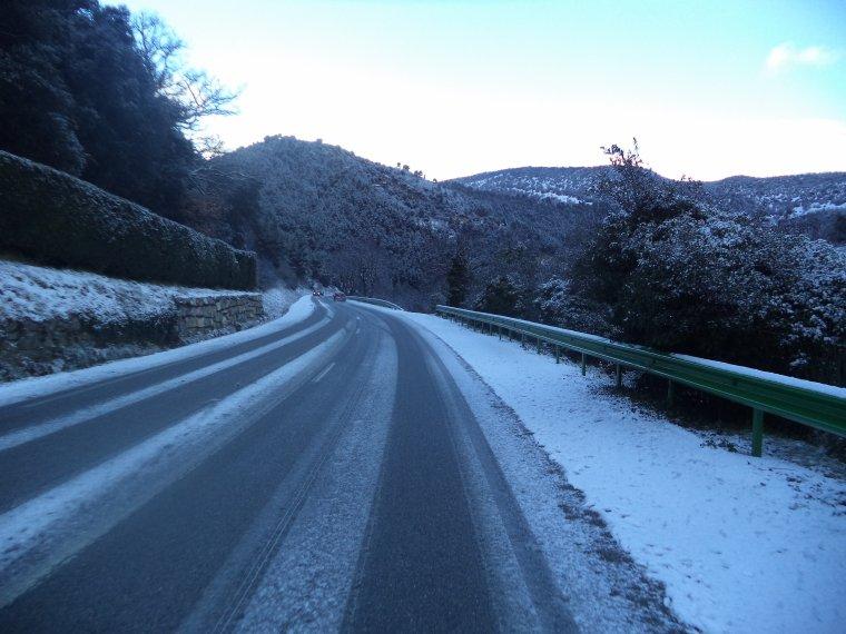 Ascension du col de Valouse avec la neige, plus beau tour de vélo de l'année, (photos 2)