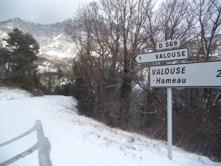 Ascension du col de Valouse avec la neige, plus beau tour de vélo de l'année, (photos 6)