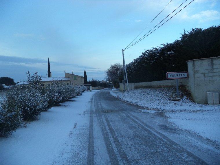 45 kilomètres à VTT sur la Neige ! neige en plaine sur la vallée du Rhone
