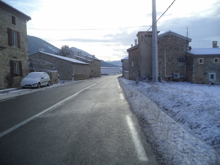 45 kilomètres à VTT sur la Neige ! neige en plaine sur la vallée du Rhone, photos (4)