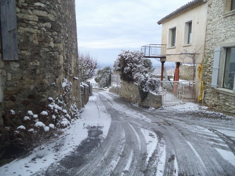 45 kilomètres à VTT sur la Neige ! neige en plaine sur la vallée du Rhone, photos (5)