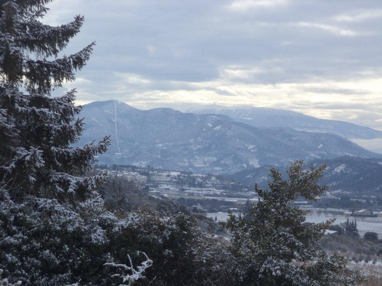 45 kilomètres à VTT sur la Neige ! neige en plaine sur la vallée du Rhone, photos (6)