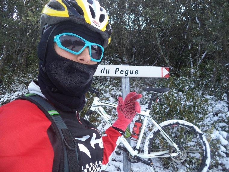 45 kilomètres à VTT sur la Neige ! neige en plaine sur la vallée du Rhone, photos (7)