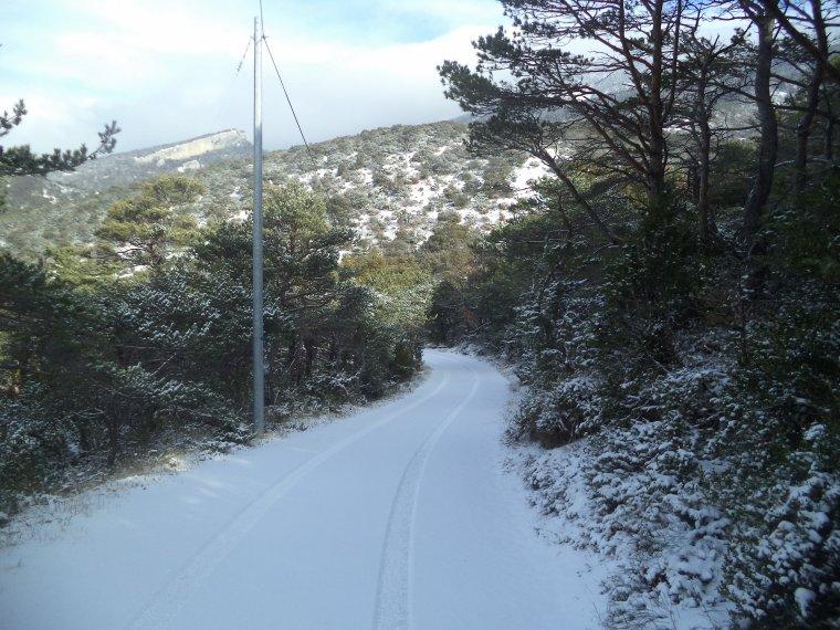 45 kilomètres à VTT sur la Neige ! neige en plaine sur la vallée du Rhone, photos (8)