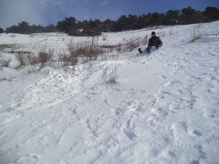 Randonnée en raquette à neige à la ferme de la Lance avec maman, photos (3)